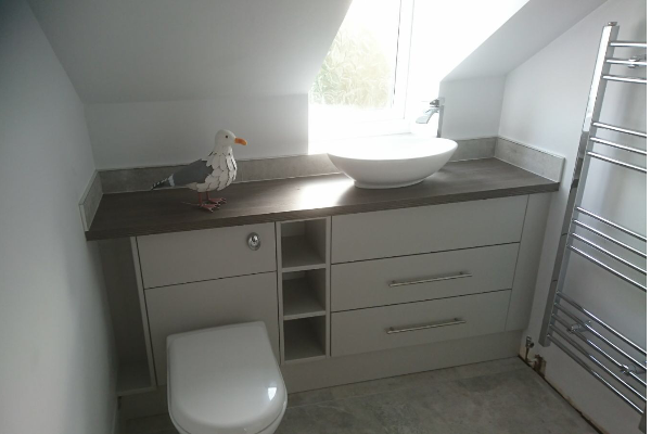 Counter top sink and worktop