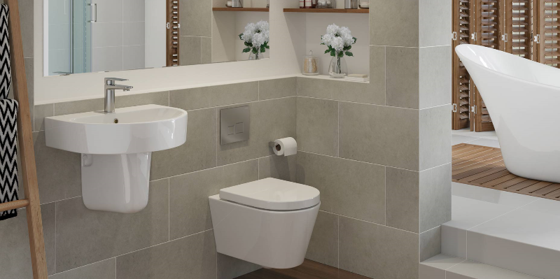 This image is showing the Cilantro wall hung WC and Basin